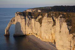 Aval cliff, Etretat Royalty Free Stock Images