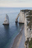 Aval cliff, Etretat Stock Photos