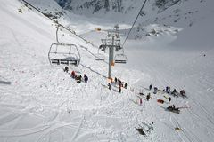 Avalanch-Rettungssuche Lizenzfreie Stockfotografie