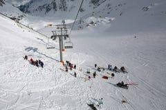 Avalanch-Suche Stockfotografie