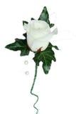 Avalancha Rose y botón de la boda de la hiedra Imagenes de archivo