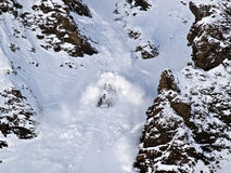 Avalanche. Kyrgyzstan. Big avalanche in Tien-Shan mountains Stock Image