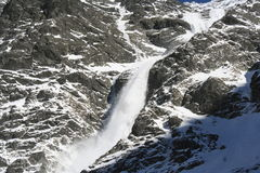 Avalanche. In the Tatras descending Stock Image