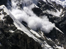 Avalanche. Mountains. Caucasus.Kabardino-Balkariya. Bezengi. Avalanche Stock Photography
