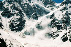 Avalanche. Mountain Dongu-Zorun.Prielbruse,Caucasus,Russia Stock Photos