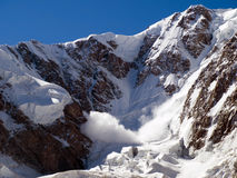 Avalanche. Mountains. Caucasus. Kabardino-Balkariya. Bezengi. Avalanche Stock Photography