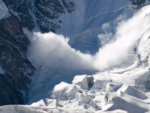 Avalanche. Mountains. Caucasus. Kabardino-Balkaria. Bezengi. Avalanche Royalty Free Stock Photography
