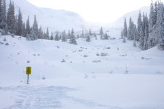 Avalanche area Stock Photos