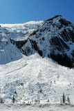 Avalanche area Stock Images