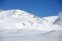 Avalanche area after snowfall Royalty Free Stock Images