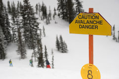 Avalanche Area Royalty Free Stock Photography