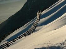 Avalanche-barrière Photographie stock