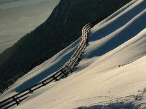 Avalanche-barrier. An avalanche-barrier in Innsbruck, Austria Stock Photography