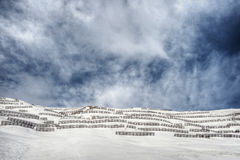 Avalanche Barrier Stock Photo