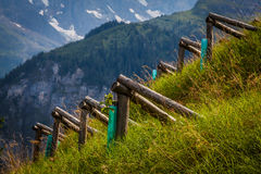 Avalanche barriers Royalty Free Stock Images