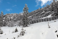 Avalanche Barriers Stock Photo