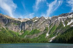 Free Avalanche Basin In Glacier National Park. Royalty Free Stock Photo - 191322895