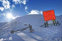 Avalanche Blasting Stock Image