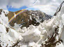 Avalanche in the Carpathians Stock Images