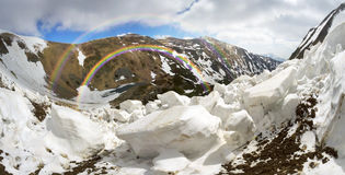 Avalanche in the Carpathians Royalty Free Stock Photo