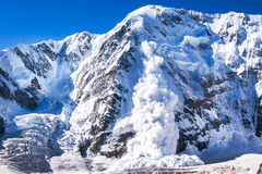 Power of nature. Avalanche in the Caucasus Royalty Free Stock Photos