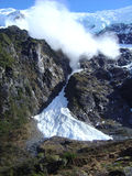 AVALANCHE COMING!. NZ glacier shot of avalanche approaching - sequence of 6 Royalty Free Stock Image