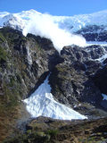 Avalanche comming. NZ glacier shot of avalanche approaching - sequence of 6 Royalty Free Stock Photo