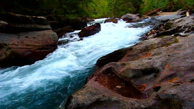 Avalanche Creek Cascade Montana Stock Image