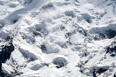 Avalanche de neige photographie stock