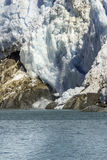 Avalanche in glacier bay Royalty Free Stock Photos