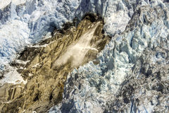 Avalanche in glacier bay Stock Images