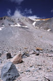 Avalanche Gulch route on Mount Shasta volcano Royalty Free Stock Image