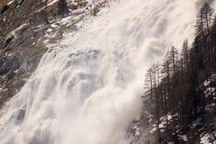 Avalanche on Italian Alps Stock Photography