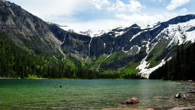 Avalanche Lake. Glacier National Park Stock Photo
