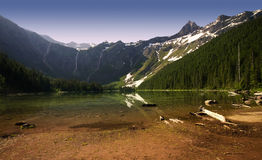 Avalanche Lake in Glacier National Park Royalty Free Stock Photo