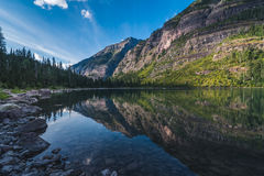 Avalanche Lake, Glacier National Park, Montana, USA Stock Images
