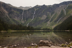 Avalanche Lake Headwall Royalty Free Stock Photos