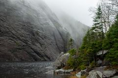 Avalanche Lake, High Peaks Wilderness Area, Adirondack Forest Preserve, New York USA royalty free stock photos