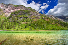 Avalanche Lake of Montana Stock Photography
