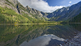 Avalanche Lake Refections Stock Photo