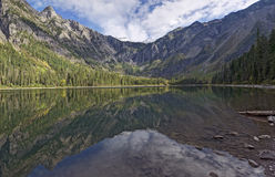 Avalanche Lake Refections Stock Image