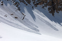 Avalanche in mountains Royalty Free Stock Photos