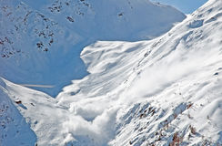 Avalanche in the moutains of Tirol Stock Photo