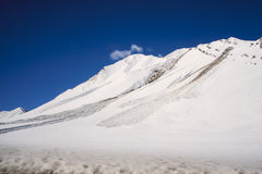 Avalanche near the road Royalty Free Stock Images