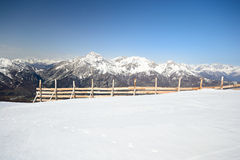 Avalanche protection in the Alps Royalty Free Stock Photo