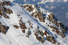 Avalanche protection barriers Royalty Free Stock Photography