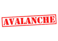 AVALANCHE. Red Rubber Stamp over a white background royalty free illustration