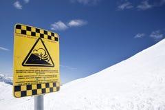 Avalanche risk Stock Photos