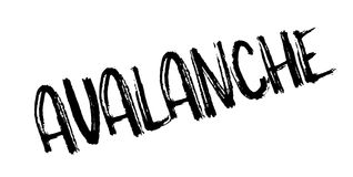 Avalanche rubber stamp Stock Photos
