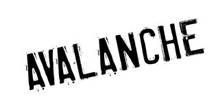Avalanche rubber stamp Royalty Free Stock Photo